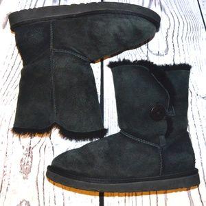 UGG Australia Sheepskin Eva Black Short Boots